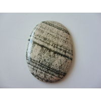 Кабошон из натурального камня скарн 41х58мм