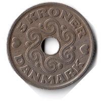 Дания. 5 крон. 1990 г.