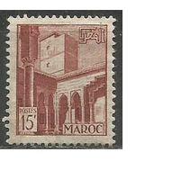 Французское Марокко. Внутренний дворик замка Рабат. 1949г. Mi#305.