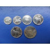 Эритрея 1, 5, 10, 25, 50, 100 центов 1991 г.-последний комплект
