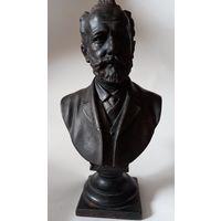 Бюст Чайковский Касли 1953 г. Бахъ .Оригинальный окрас.32 см.