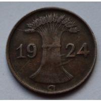 Германия 1 пфенниг 1924 г. D