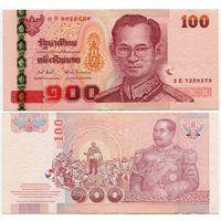 Таиланд. 100 бат (образца 2005 года, P114, подпись 1)