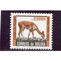 Боливия. Редкие животные. Лама вакунья. Вып.1