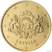 10 евроцентов 2014 Латвия UNC из ролла