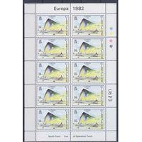 [1871] Гибралтар 1982. Армия.Война.Авиация,самолеты.Европа.EUR OPA. 2 МАЛЫХ ЛИСТА.