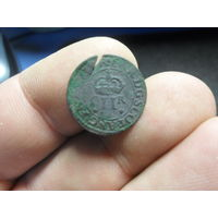 Шотландский торнер (двойной пенни) 1632-1633 г.г.(5) первая медная монета на РБ