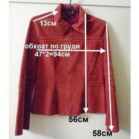 Куртка бордовая бархатная, р.42-46