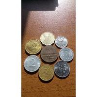 Сборка монет со всего света. Старт с 1 рубля.
