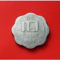 27-08 Индия, 10 пайс 1987 г.