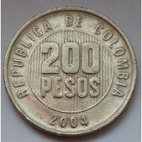 Колумбия, 200 песо 2004 г.