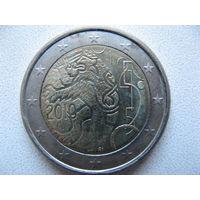 Финляндия 2 евро 2010г. 150 лет финской валюте. (юбилейная) UNC!
