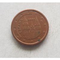 2 евроцента 2001 Испания