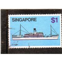 Сингапур.  Mi:SG 351. Кедах (каботажное судно). 1980.