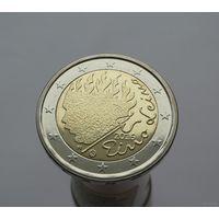 2 евро 2016 Финляндия 90 лет со дня смерти Эйно Лейно UNC из ролла