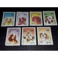 Вьетнам 1990 Фауна Собаки полная серия 7 марок