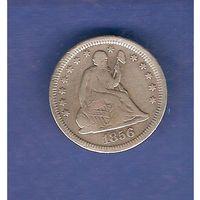 25 центов 1856 г.