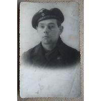 Фото немецкого военного моряка. 1944 г. 8х13 см.