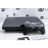 Черная консоль Sony PlayStation 3 Slim 320Gb. Гарантия