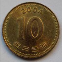 Южная Корея 10 вон, 2004 г.