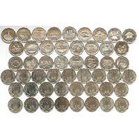 Шри-Ланка НАБОР 25 монет х 10 рупий 2013 ОКРУГА UNC