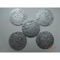 РАСПРОДАЖА КОЛЛЕКЦИИ !!! 3 гроша ( трояк) 1624 г. Сигизмунд - III + полтораки 4 шт. ( без повторов ) всё вместе одним лотом, распродажа с 1 - го рубля ! Только на 3 дня !!!