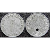 YS: Германия, Третий Рейх, 1 рейхспфенниг 1941G, КМ# 97
