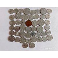 Монеты ГДР с рубля.