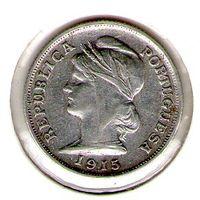 Португалия 10 центаво 1915 года