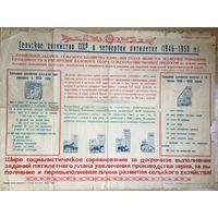 Плакат Сельское хозяйство СССР в четвёртой пятилетке 1946-1950 г издание Брестского обкома КП(б)Б