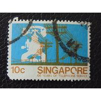 Сингапур. 100 лет телефонной связи.