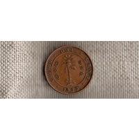 Цейлон Шри Ланка 1 цент 1925/Георг(Nv)