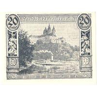 YS: Австрия, Niederoesterreich, нотгельд земли Нижняя Австрия, 20 геллеров 5.1920-31.12.1920, UNC