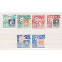 [153] Чад 1971. Почта.Марка на марке. Гашеная серия.