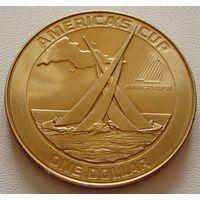 "Американское Самоа. 1 доллар 1988 год  KM#1  ""Кубок Америки"""