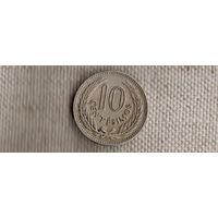 Уругвай 10 чентезимо 1953//(Li)