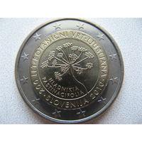 Словения 2 евро 2010г. 200 лет Ботаническому саду Любляны. (юбилейная) UNC!