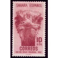 1 марка 1952 год Испанская Сахара Страус 130