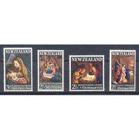 Новая Зеландия 1966-69 Рождество. Живопись. Классика, 4 марки