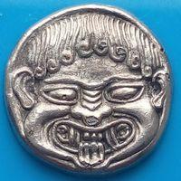 Коллекция ВР ( British Petroleum )-Антикварные греческие,романские монеты-II Stater Neapolis VI в.до н.э.