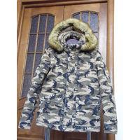 Крутая зимняя куртка камуфляж (очень теплая)
