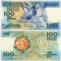 Португалия. 100 эскудо (образца 03.12.1987 года, P179d, подпись 4, UNC)