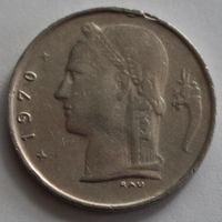 Бельгия, 1 франк 1970 г. 'BELGIQUE'
