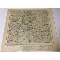 Оригинальная немецкая карта по ПМВ Браслав 1917г