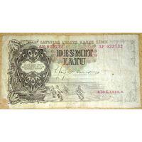 Латвия 10 латов 1937г.