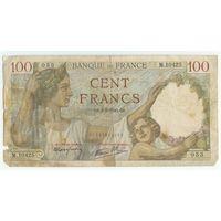 Франция, 100 франков 1940 год.