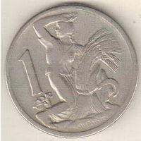 Чехословакия 1 крона 1922 2