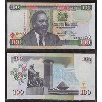 Распродажа коллекции. Кения. 100 шиллингов 2010 года (P-48e.1 - 2004-2010 Issue)
