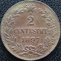 YS: Италия, 2 чентезимо 1897 R, KM# 30