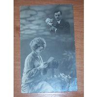 Старая фото-открытка 1928 год